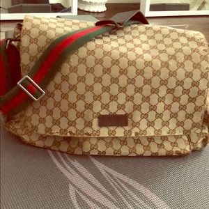 Authentic used Gucci diaper bag.